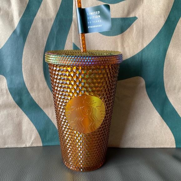 Starbucks Tumbler Grande Honey Comb Copper Studded